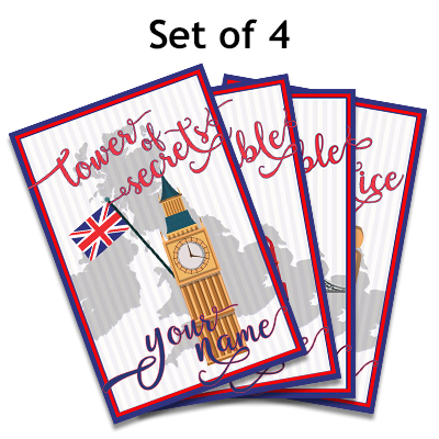 United Kingdom England Cozy Mystery Set Tower of London Person of color woman, Big Ben, Stonehenge, Double Decker Bus