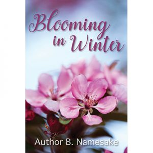 floral, winter, premade book cover