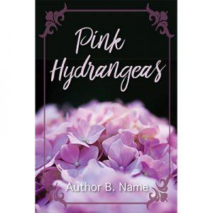 pink hydrangea, women's lit, premade book cover, devotional