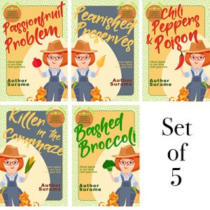 Cozy mystery set series farmer vector