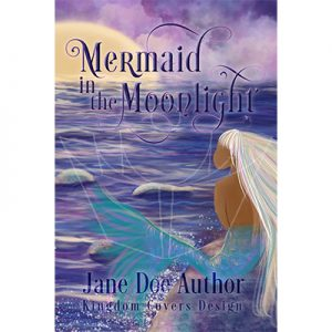 Exclusive illustrated middle grade children's book premade cover mermaid moonlight