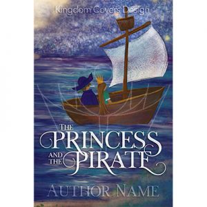 Exclusive illustrated middle grade children's book premade cover princess pirate ship ocean adventure journey