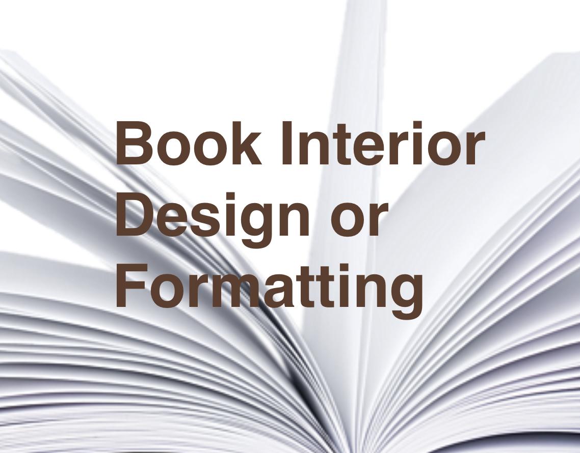 Book Interior Design or Formatting